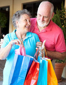 Senior Shoppers - Look What I Got — Stock Photo