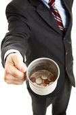 Recession - Businessman Panhandling — Stock Photo