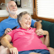 Relaxing Together in the Motor Home — Stock Photo