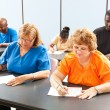 Stock Photo: Adult Education Class - Exams
