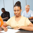 Adult Ed Student - Special Education - Stockfoto