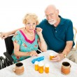 Seniors Frustrated by Health Problems — Stock Photo