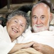 Senior Couple in Bed — Stock Photo