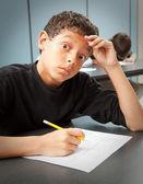 Estudante - teste de ansiedade — Foto Stock