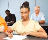 Adult Ed Student - Special Education — Stock Photo