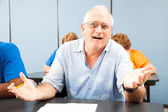 Confused Older Student — Stock Photo