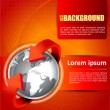 Постер, плакат: Vector background with continents for brochures