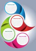 Vector brochure page design concept — Stock Vector