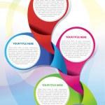 Vector brochure background concept — Stock Vector