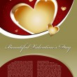 Beautiful Valentines Day Vector Background — Stock Vector #8517859