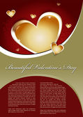 Beautiful Valentines Day Vector Background — Stock Vector