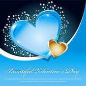 Fondo hermoso azul del día de san valentín — Vector de stock