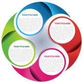 Vector circle background concept — Stock Vector
