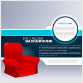 Vector Abstract Background With Chair — Stock Vector