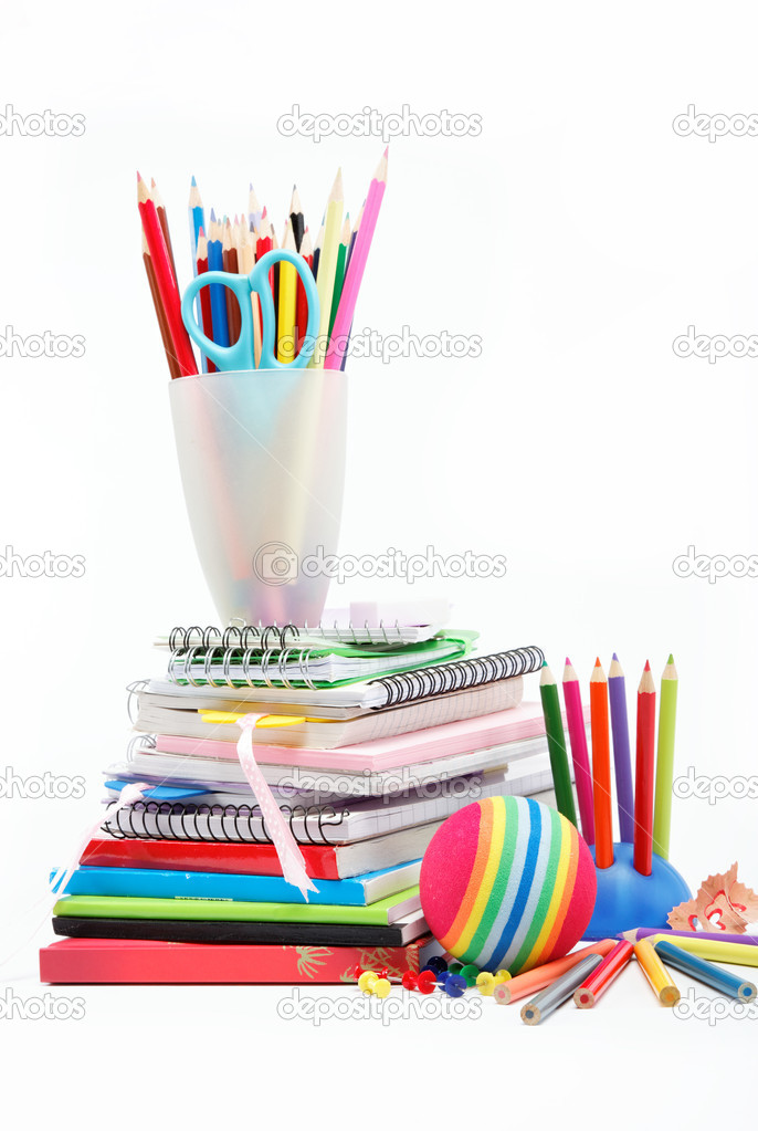 Stationery isolated on white  Stock Photo #10278336