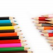Colored pencils on a white background. — Stock Photo #10551042