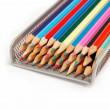 Colored pencils on a white background. — Stock Photo #10551064