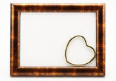 Frame with hearts on a white background — Foto Stock