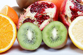 Close up of tropical fruit on white. — Stock Photo