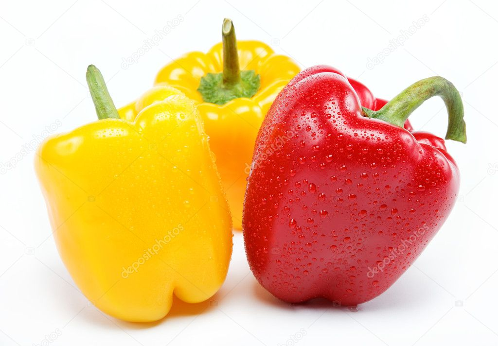 Healthy food. Fresh vegetables. Peppers on a white background. — Stock Photo #9381872