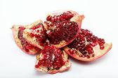 Red pomegranate fruit. Isolated on white background — Stock Photo