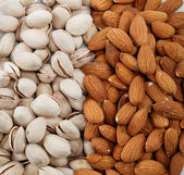 Nuts Mixed. Almond and pistachio nuts. — Photo