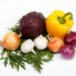Healthy food. Fresh vegetables on a white background. — Foto de Stock