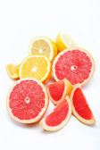 Citrus fruits isolated on a white background. — Stok fotoğraf