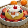 Dessert With Fresh Fruits — Stock Photo #10019101