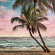 Stock Photo: Grunge Image Of Tropical Beach