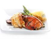 Ogon homara z grilla — Zdjęcie stockowe