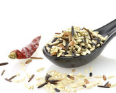 Wild And Whole Grain Brown Rice — Stock Photo