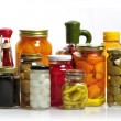 Glass Jars Of Preserved Food — Stock Photo