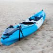 Royalty-Free Stock Photo: Colourful kayak on the beach