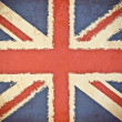 Old grunge paper with UK flag background — Foto Stock