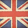 Old grunge paper with UK flag background — Stock Photo
