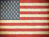 Old grunge paper with USA flag background — Stock Photo