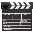Film clapper board with space — Stock Photo #9084786