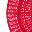 Wooden red fan — Stock Photo
