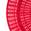 Wooden red fan - Stockfoto