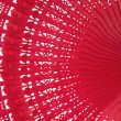 Wooden red fan - Stock Photo