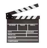 Film clapper board with space — Stock Photo