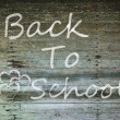 Grunge wood with back to school word - Lizenzfreies Foto
