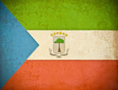 Old grunge paper with Equatorial Guinea flag background — Stock Photo