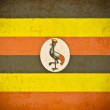 Old grunge paper with Uganda flag background - Zdjęcie stockowe