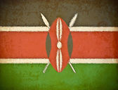 Vieux papier grunge avec fond de drapeau kenya — Photo