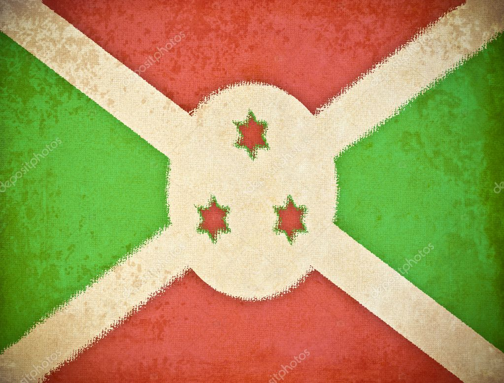 Old grunge paper with Burundi flag background — Stock Photo #9153181