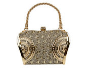 Golden clutch bag — Stock Photo