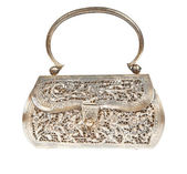 Golden clutch bag — Stock Photo