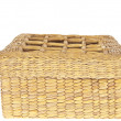Wicker basket isolated on white background - Стоковая фотография